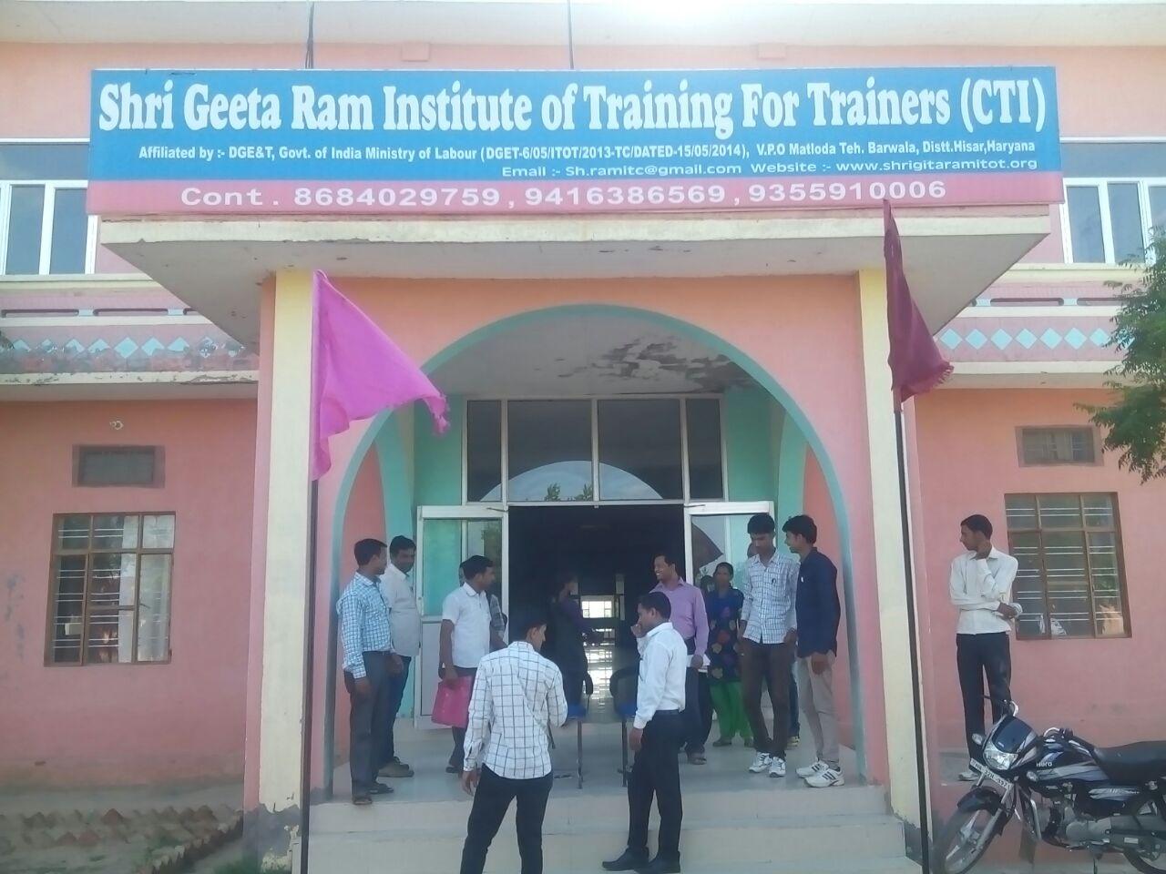 Shri Geeta Ram Institute for Training of TRainers (CTI)